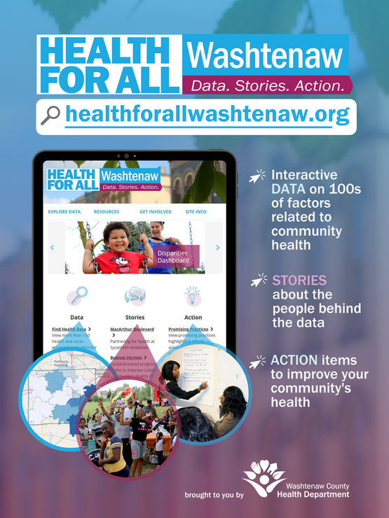 Health for All Washtenaw informational poster