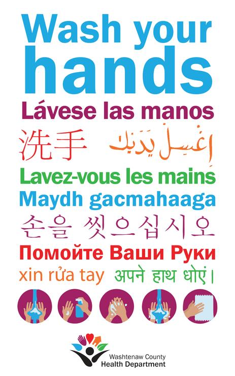 Multilingual handwashing design