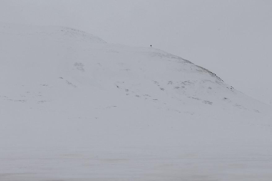 Foto einer Schneelandschaft in Island