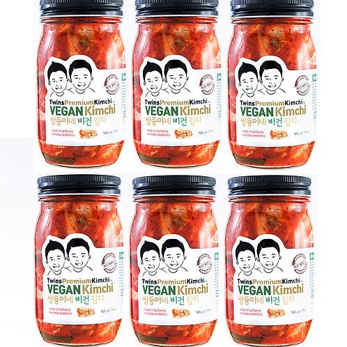 Twins Premium Sliced Vegan Kimchi 16oz 6pack