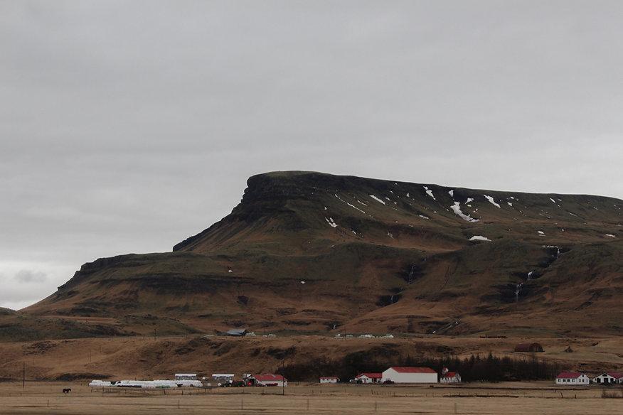 Foto einer Landschaft in Island