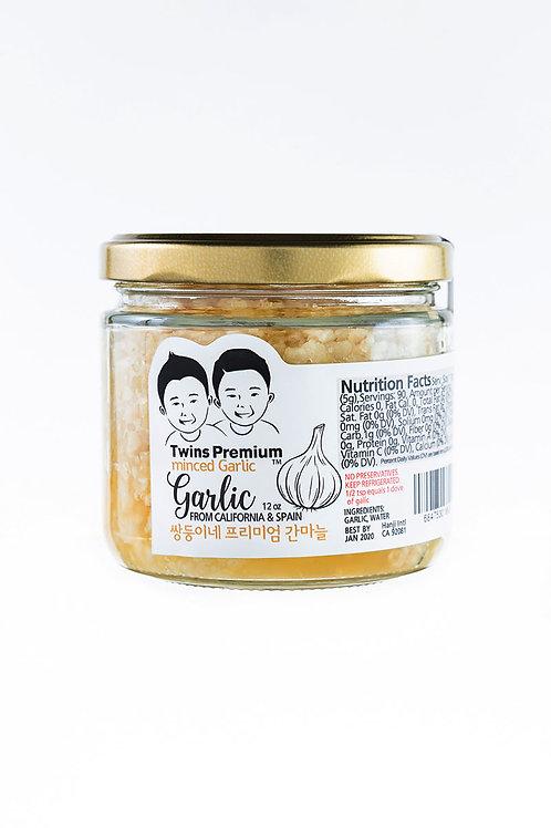 Twins Premium Minced Garlic 12oz
