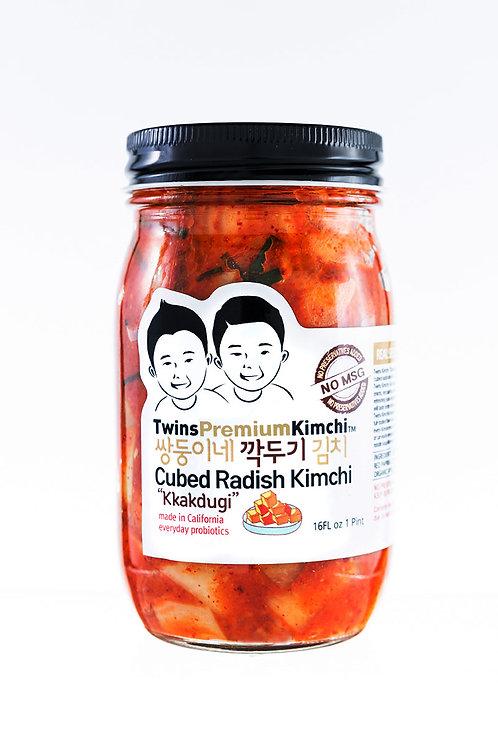 Twins Premium Cubed Radish Kimchi 16oz
