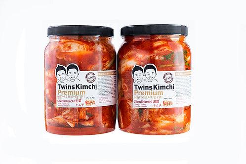 [10% off] Twins Premium Sliced Kimchi 2Pack  64oz