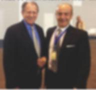 Thomas Biggs di Houston Texas presidente della Società Mondiale di Chirurgia Plastica e Dott. Emilio Betti