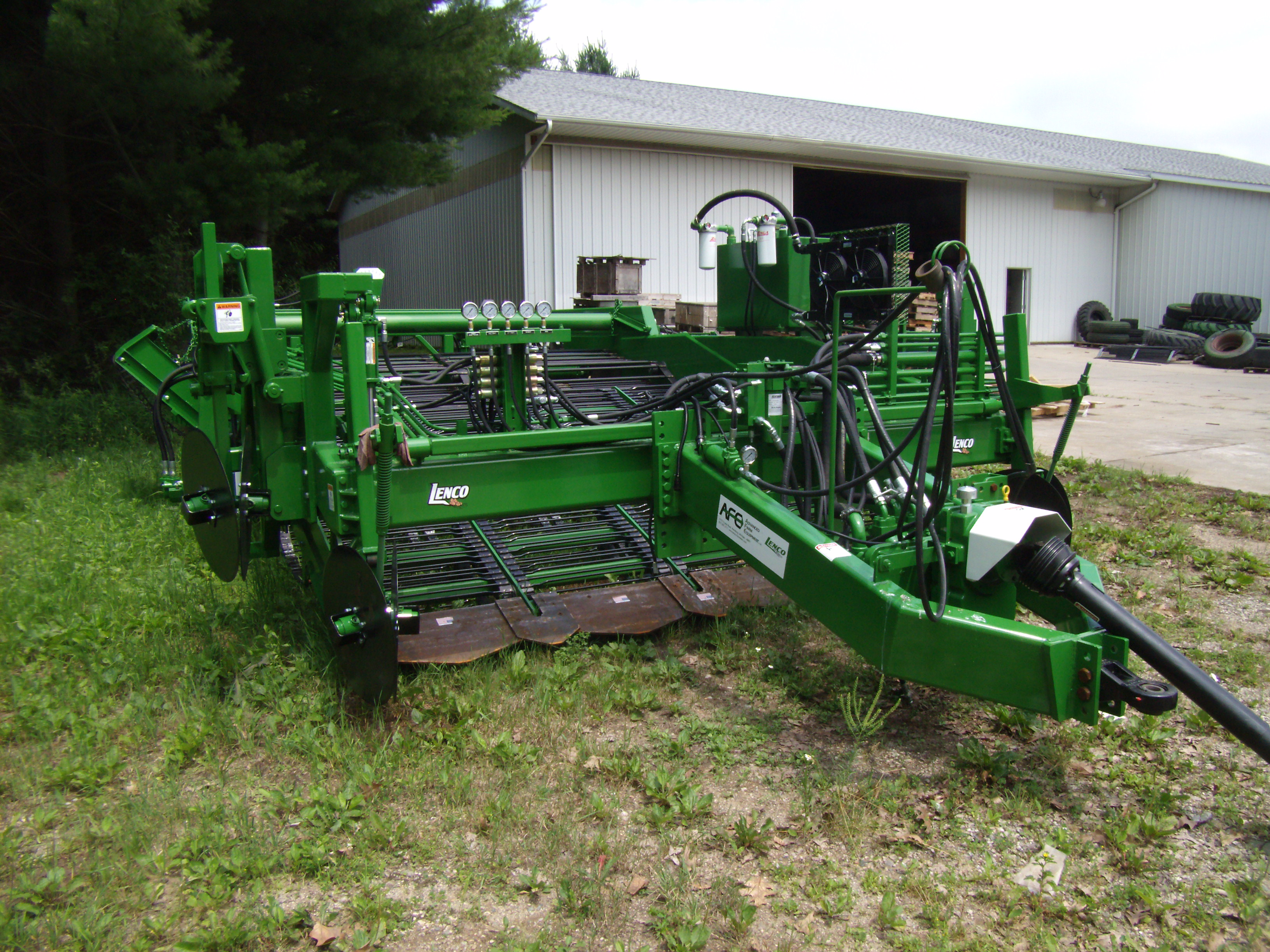 4 Row Pull Type Windrower
