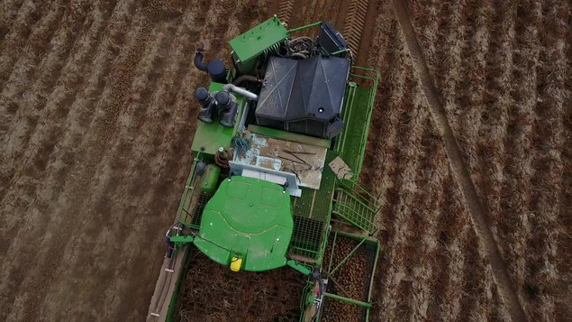 4 Row Self-Propelled Wrap-A-Round Harvester