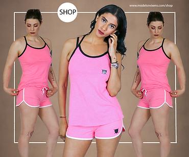 Pink Loyalty Is Royalty Tank Top and Shorts Set