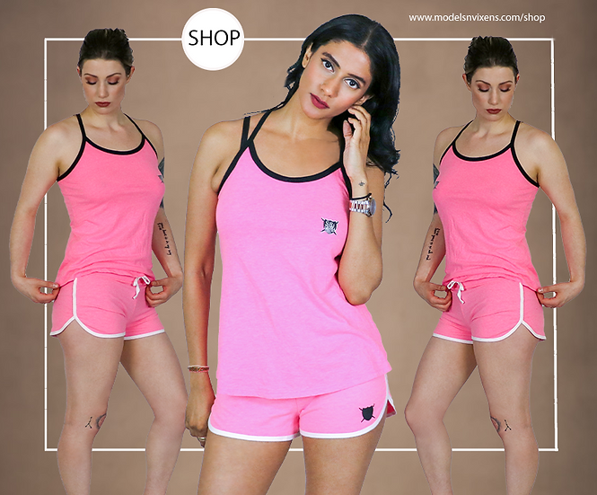 Pink Loyalty Is Royalty Tank Top and Shorts Set