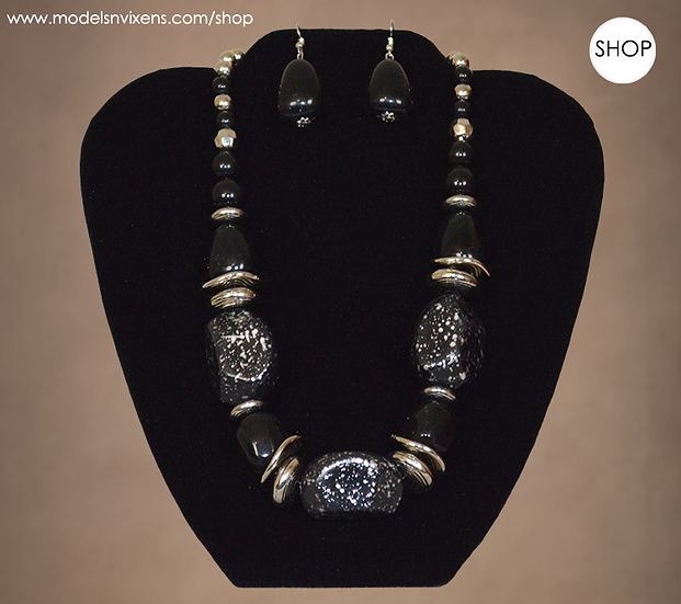 Stability Necklace and Earring Set