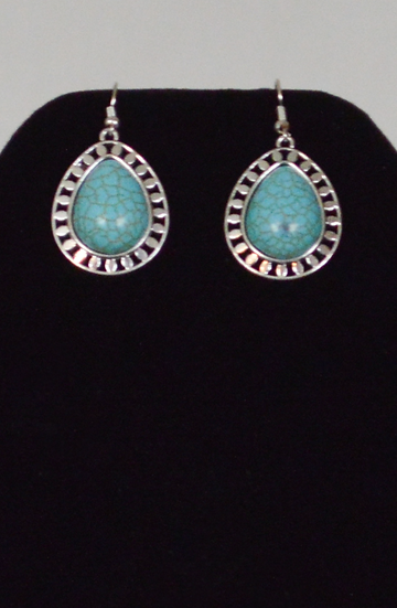 Turquoise Blue Water Drop Earings