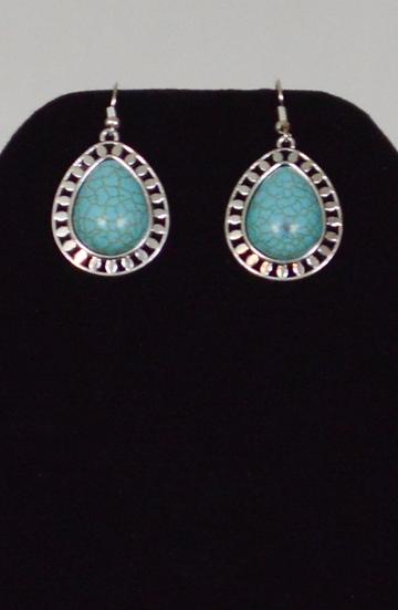 Turquoise Blue Water Drop Earings