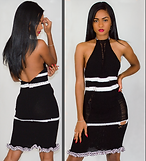 Back Out V Black and White Dress 2.png