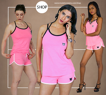 Pink Loyalty Is Royalty Top and Short Se