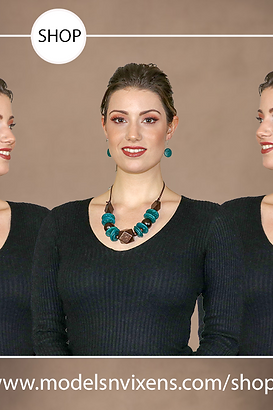 Catch An Eye 2 Earrings and Necklace Set