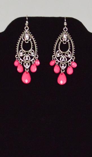 Pink Drip Earrings