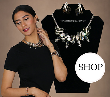 Beauty with a Sharp Edge Necklace and Ea