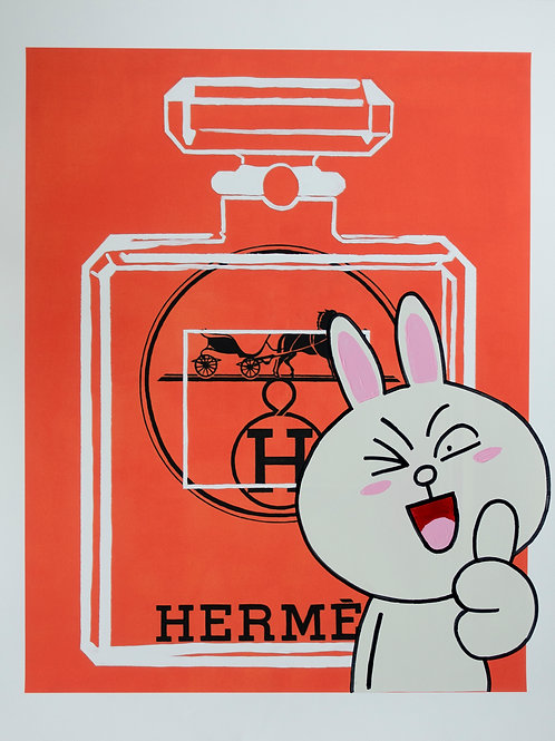 HERMES MEETS CHANEL x LINE CONY