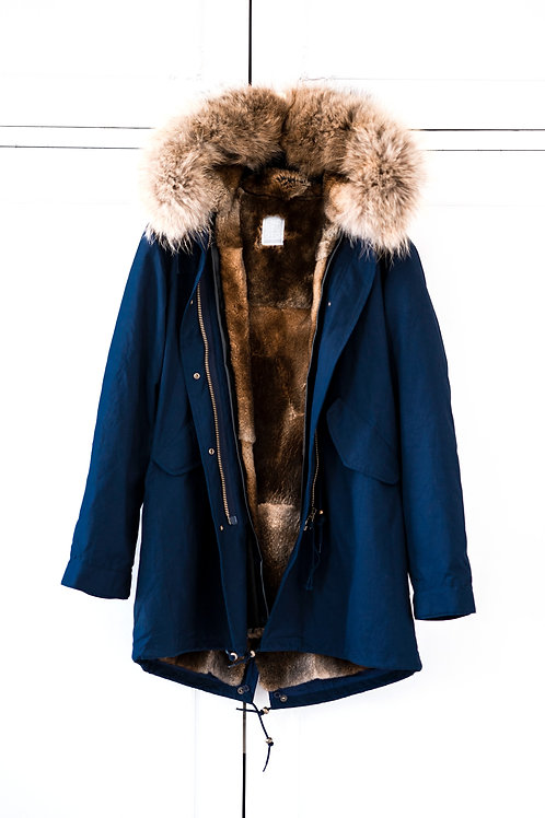 THE NAVY FUR PARKA