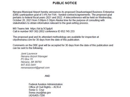 Public Notice 09/20/2021