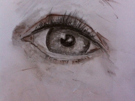 eye by pencil