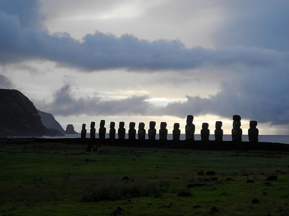 Ahu Tangariki, ou les 15 moaï