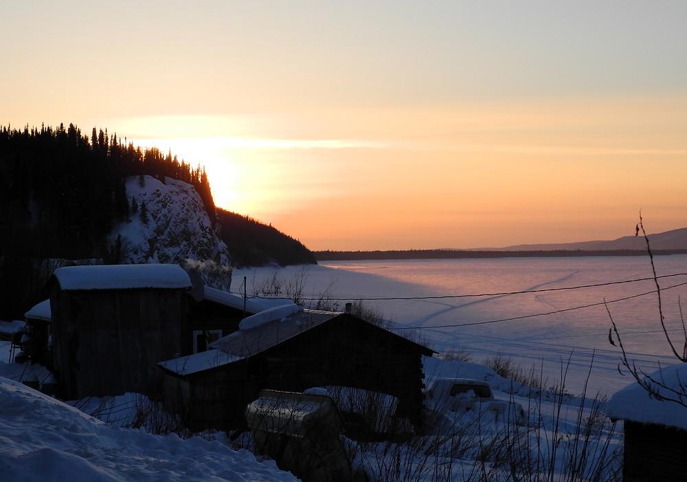 Coucher de soleil sur la Yukon river, Ruby