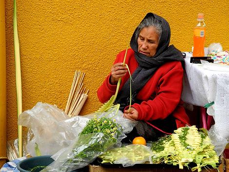 Rameaux tressés, Mexique