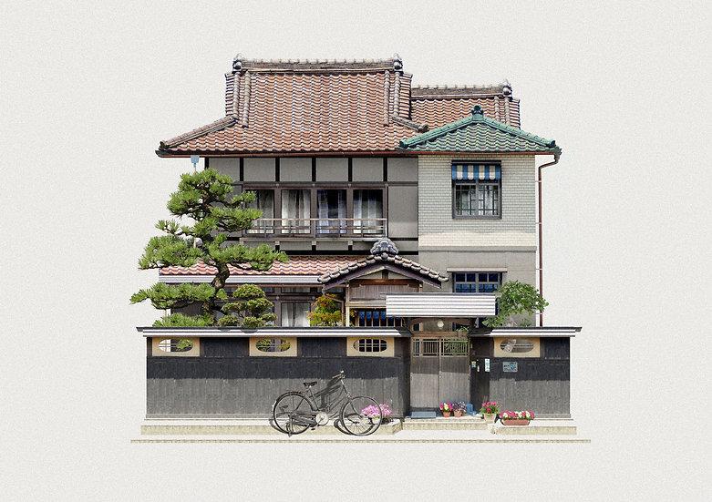 """Private House in Nagoya, Mizuho-ku, Sōsaku-cho"""