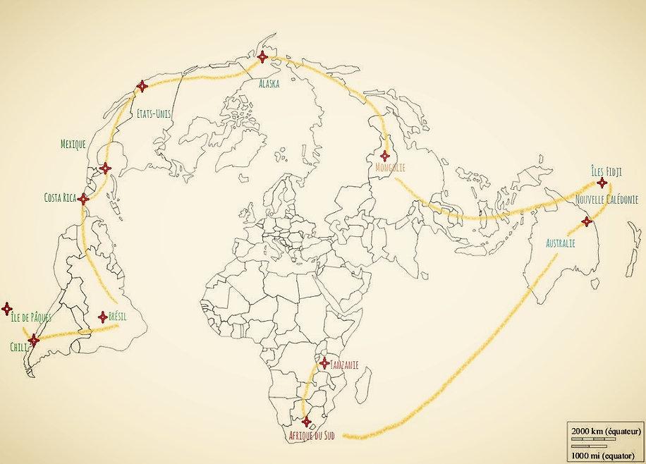 Tour du monde raranga