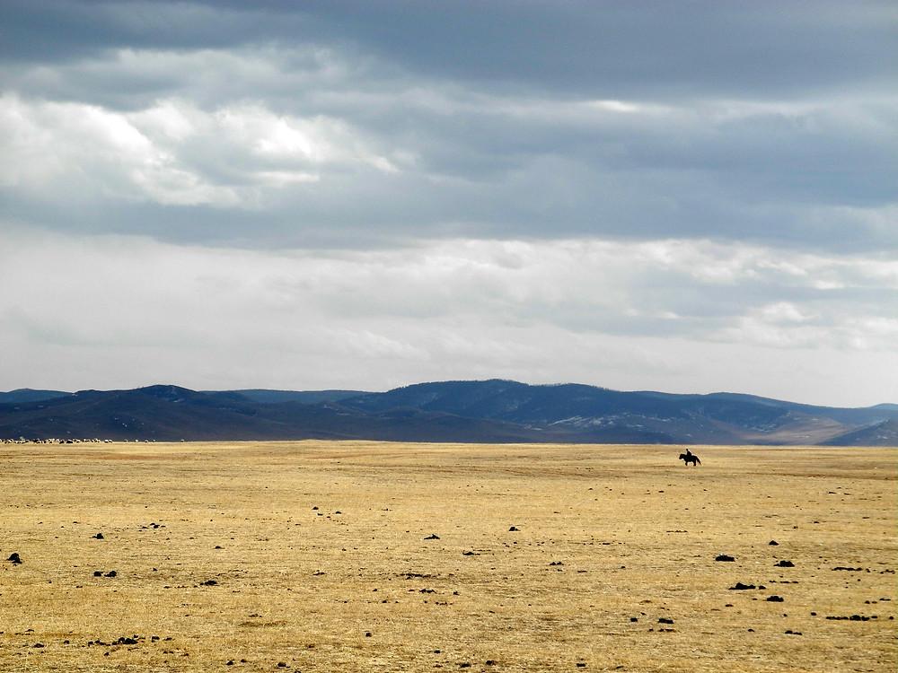 Le vide immense des plaines sauvages mongoles.