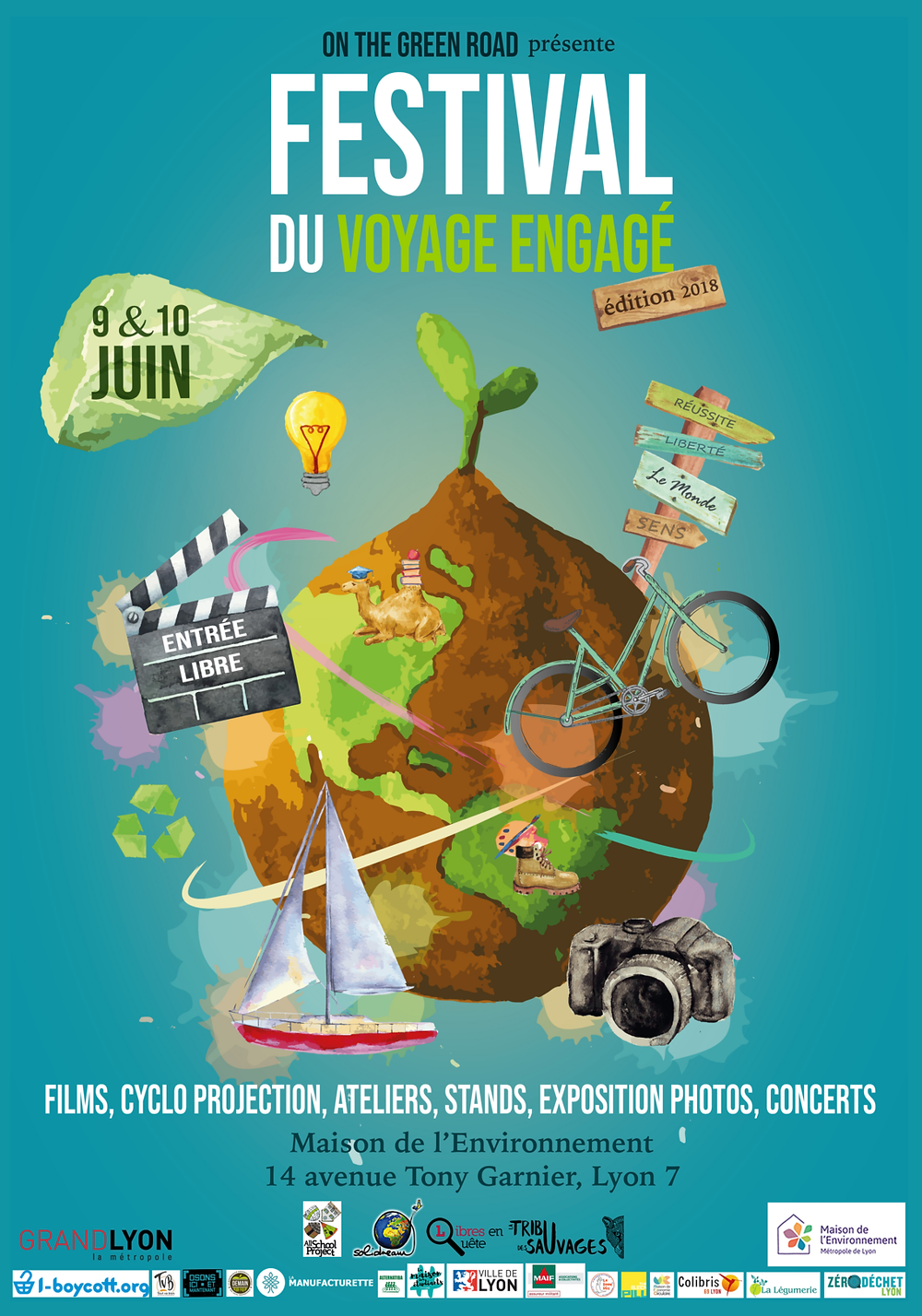 Affiche du Festival du Voyage Engagé