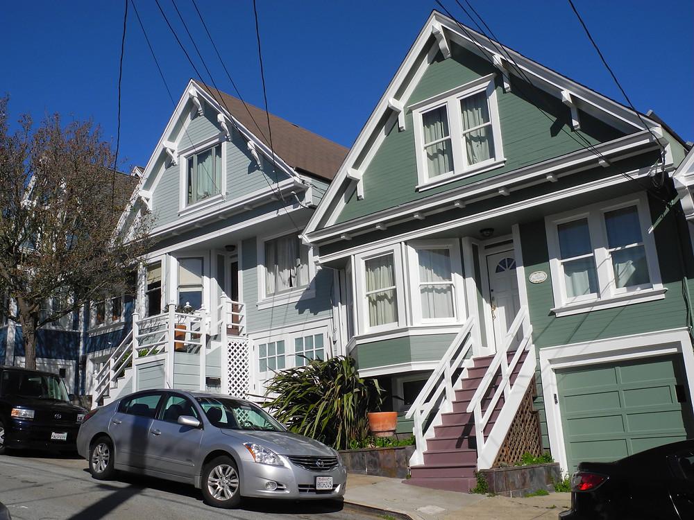 Les maisons victoriennes de Bernal Heights.