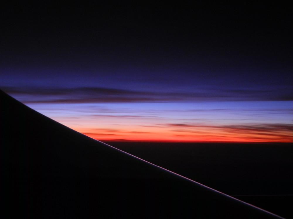 Aurore au-dessus de l'Amazonie