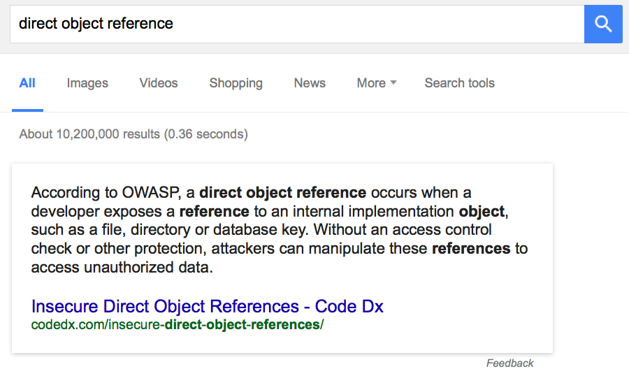 Let's Talk About Direct Object References