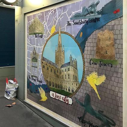 Norwich BID mural
