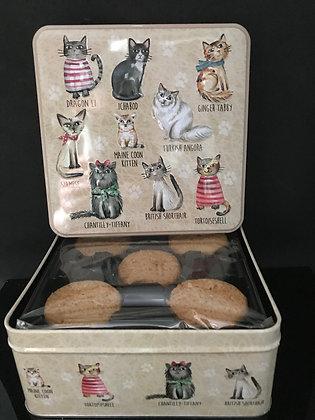Blikken doos vulling koekjes