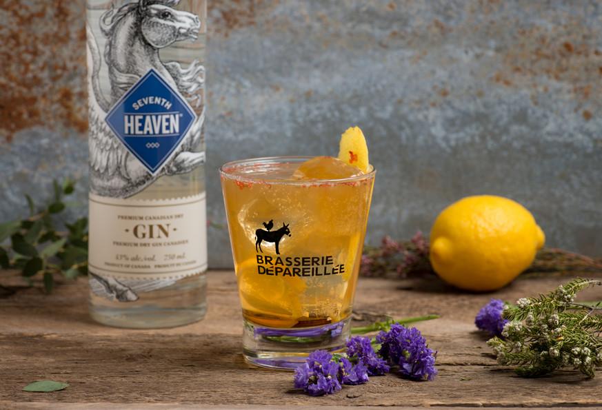 Cocktail la Pépé et gin 7ème ciel