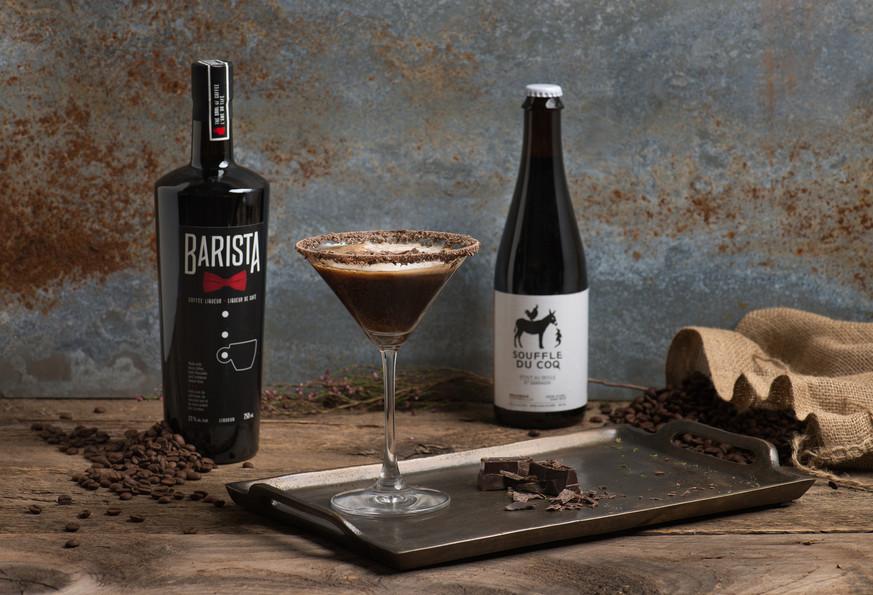 Martini bière Souffle du Coq et Barista Café