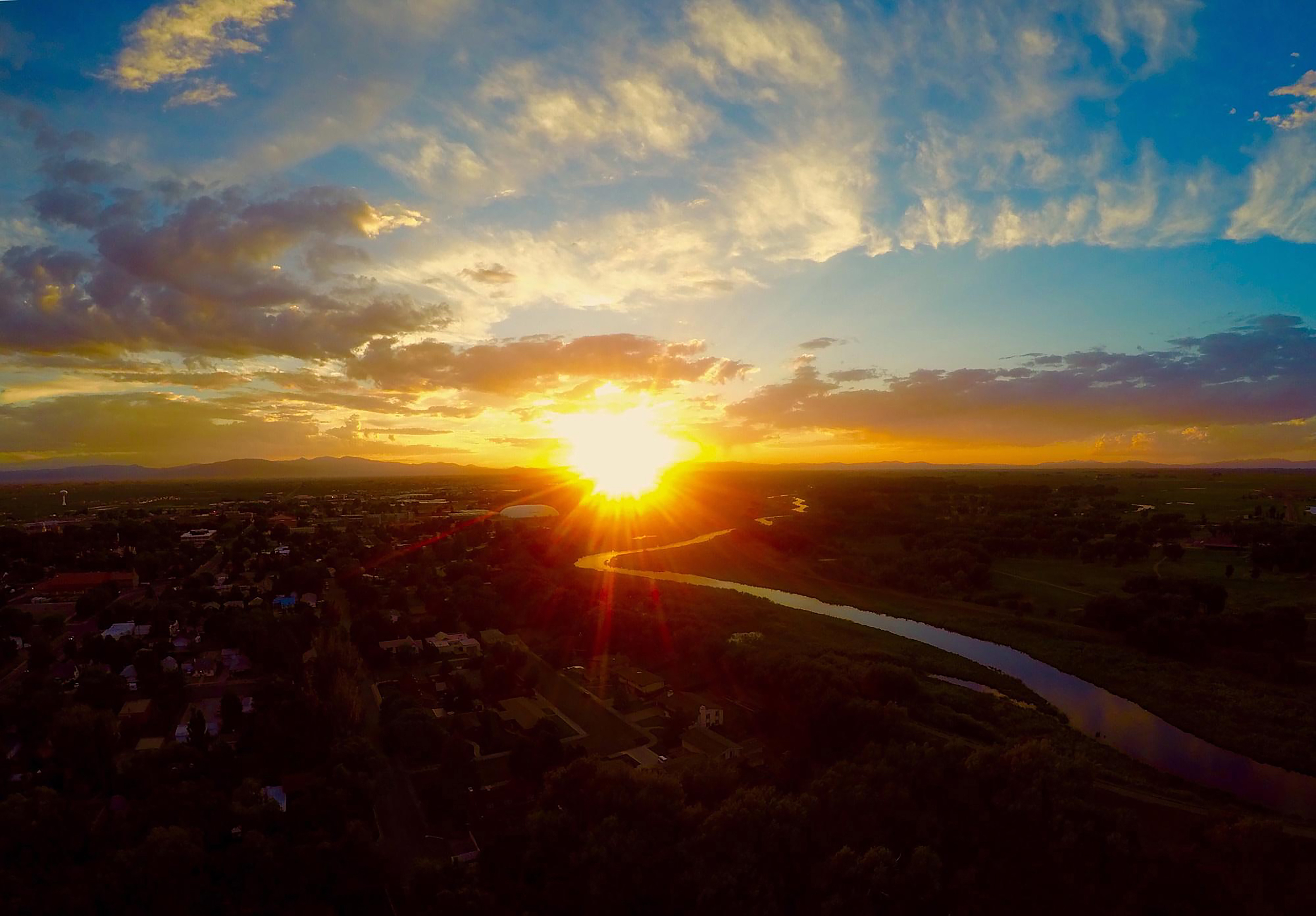 Alamosa Rio Grande Sunset