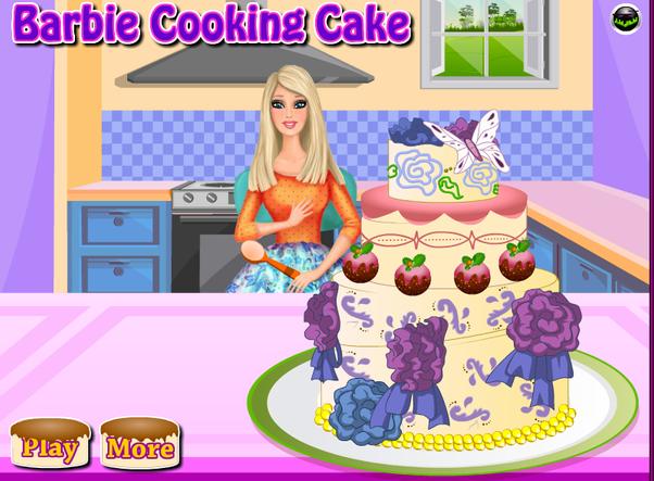 Games 2 Girls Barbie Cooking Cake