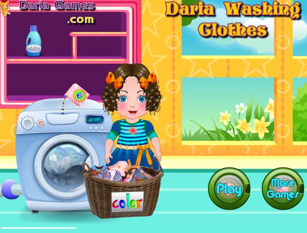 Games 2 Girls Daria Washing Clothes