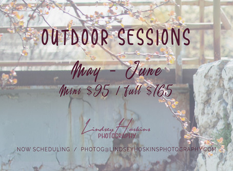May-June 2020 Outdoor Sessions