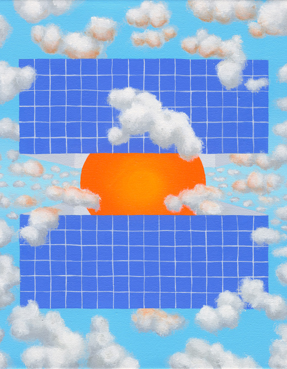 """Eclipse Box (Outside): Blue Tile"""