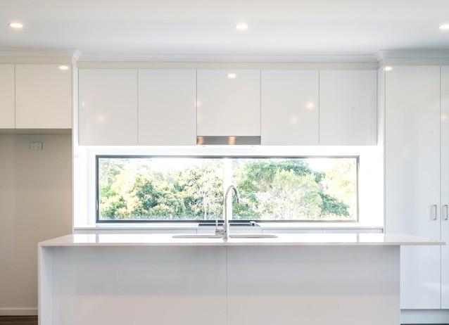 Symmetrical kitchen layout
