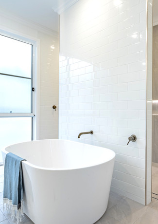 Bathroom drenched in natural light