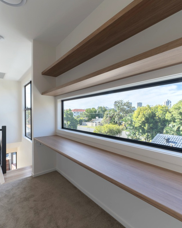 Study nook is enhanced with natural light