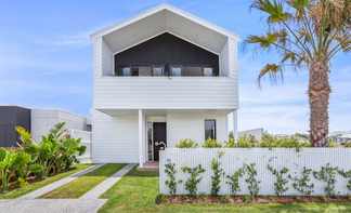 St Bart's Beach House in Kingscliff - designed for a 10m wide block.