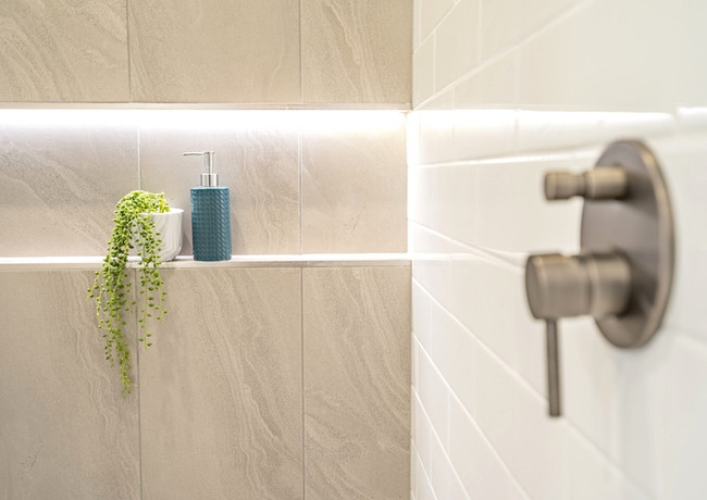 Niche in bathrooms are both functional & stunning