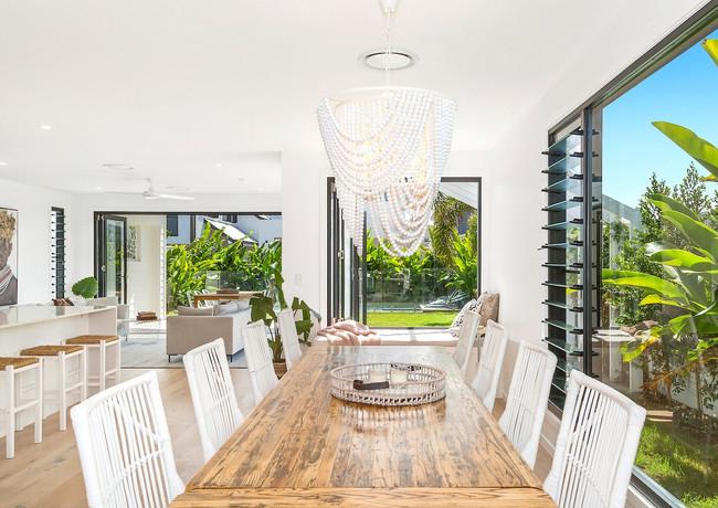 Open plan living in modern St Bart's Beach House
